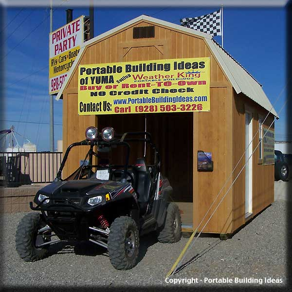 Atv Metal Carports : Sy sheds temporary storage shed diy