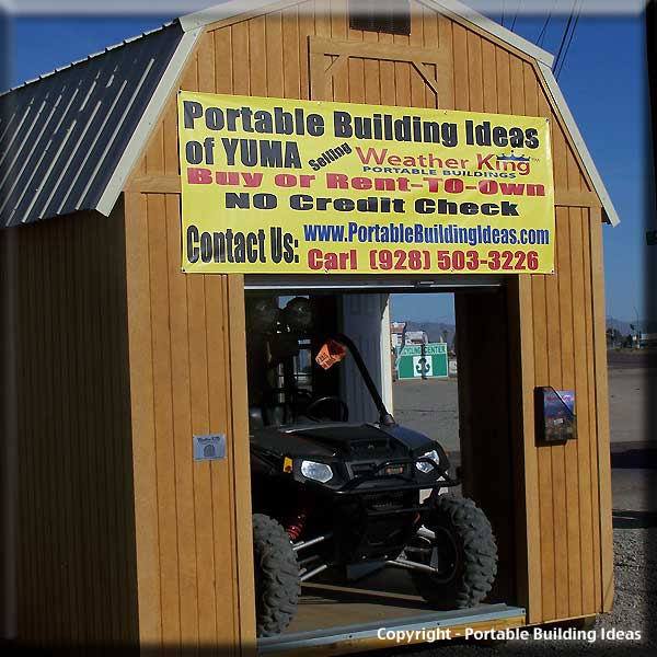 Outdoor furniture design plans storage sheds yuma az for Atv shed plans