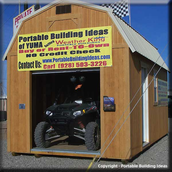 Dm storage shed door options for Atv shed plans